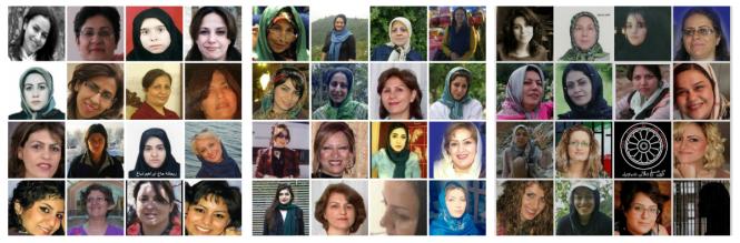 ونداد اولادعظیمی: لیست اسامی و شرح وضعیت ۶۲ زن زندانی در جمهوری اسلامی ایران